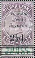 """[Stamp Duty Stamps Overprinted """"POSTAGE - AND - REVENUE"""" -  4 Types of Overprint, type F2]"""