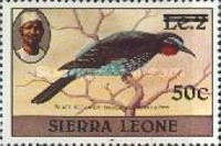 [Birds - Issues of 1980 Surcharged, type FL1]