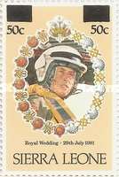 [Royal Wedding of Prince Charles and Lady Diana Spencer - Issues of 1981 Surcharged, type GQ1]