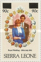 [Royal Wedding of Prince Charles and Lady Diana Spencer - Issues of 1981 Surcharged, type GR1]