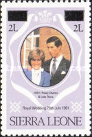[Royal Wedding of Prince Charles and Lady Diana Spencer - Issues of 1981 Surcharged, type GU2]