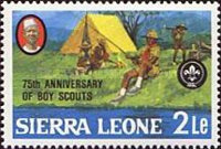 [The 75th Anniversary of Boy Scout Movement, Typ HL]