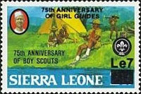 [The 75th Anniversary of Girl Guide Movement - Issues of 1982 Overprinted