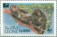 [Chimpanzees - Issue of 1983 Surcharged, Typ IV1]