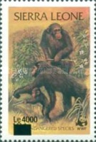 [Chimpanzees - Issue of 1983 Surcharged, Typ IW1]