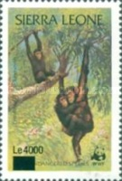 [Chimpanzees - Issue of 1983 Surcharged, Typ IX1]