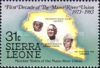 [The 10th Anniversary of Mano River Union, Typ JV]