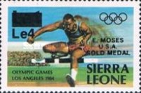 [Olympic Games Gold Medal Winners - Los Angeles, USA - Issues of 1984 Overprinted and Surcharged, Typ JY1]