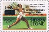[Olympic Games Gold Medal Winners - Los Angeles, USA - Issues of 1984 Overprinted and Surcharged, Typ JZ1]