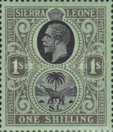 [King George V & Elephant - New Watermark, Typ L11]