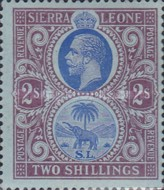 [King George V & Elephant - New Watermark, Typ L12]