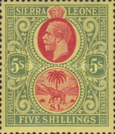[King George V & Elephant - New Watermark, Typ L13]