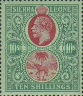 [King George V & Elephant - New Watermark, Typ L14]