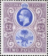 [King George V & Elephant - New Watermark, Typ L15]