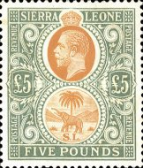 [King George V & Elephant - New Watermark, Typ L16]