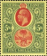 [King George V & Elephant, type L5]