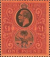 [King George V & Elephant, type L8]