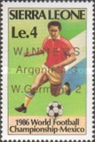 [Football World Cup Winners, Mexico - Issues of 1986 Overprinted