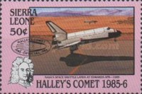 [Appearance of Halley's Comet - Issues of 1986 Overprinted, Typ OI1]