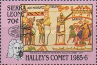 [Appearance of Halley's Comet - Issues of 1986 Overprinted, Typ OJ1]