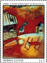[The 100th Anniversary of the Birth of Marc Chagall (Artist), 1887-1985, Typ SC]