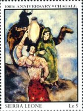[The 100th Anniversary of the Birth of Marc Chagall (Artist), 1887-1985, Typ SD]