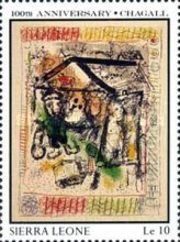 [The 100th Anniversary of the Birth of Marc Chagall (Artist), 1887-1985, Typ SE]