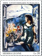 [The 100th Anniversary of the Birth of Marc Chagall (Artist), 1887-1985, Typ SF]