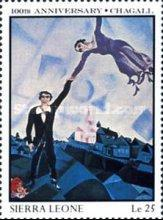[The 100th Anniversary of the Birth of Marc Chagall (Artist), 1887-1985, Typ SG]