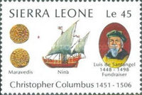 [The 500th Anniversary (1992) of Discovery of America by Columbus, Typ TH]