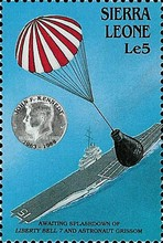 [The 25th Anniversary of the Death of John F. Kennedy (American Statesman), 1917-1963 - U.S. Space Achievements, Typ WQ]