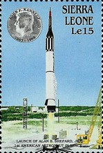 [The 25th Anniversary of the Death of John F. Kennedy (American Statesman), 1917-1963 - U.S. Space Achievements, Typ WR]
