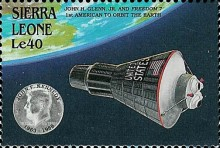 [The 25th Anniversary of the Death of John F. Kennedy (American Statesman), 1917-1963 - U.S. Space Achievements, Typ WS]