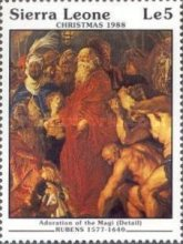 [Christmas - Religious Paintings by Peter Paul Rubens, type XL]