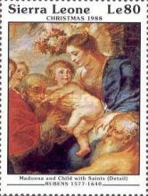 [Christmas - Religious Paintings by Peter Paul Rubens, type XQ]