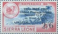 """[Airmail - The 2nd Anniversary of Independence - Issues of 1956 Overprinted """"AIR MAIL - 2ND YEAR OF INDEPENDENCE PROGRESS DEVELOPMENT 1963"""" and Surcharged Value, type XXA]"""