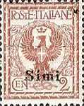 """[Italian Stamps Overprinted """"SIMI"""", tyyppi A]"""