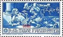 [Italian Occupation: Italian Stamps No. 308-312 Overprinted