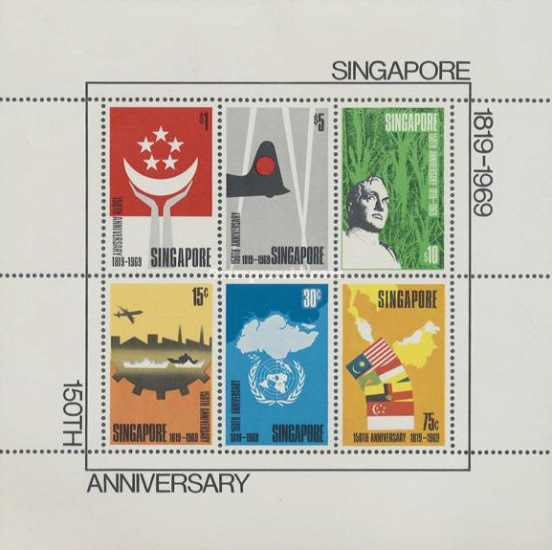 [The 150th Anniversary of Founding of Singapore, type ]