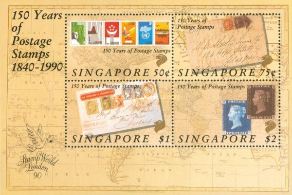 [The 150th Anniversary of First Stamps of Singapore, type ]