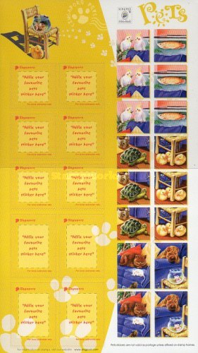 """[National Stamp Exhibition """"SINGPEX '01"""" - Singapore - Self-Adhesive Personalized Stamps, type ]"""