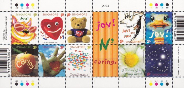 [Greetings Stamps - Joy and Caring, type ]