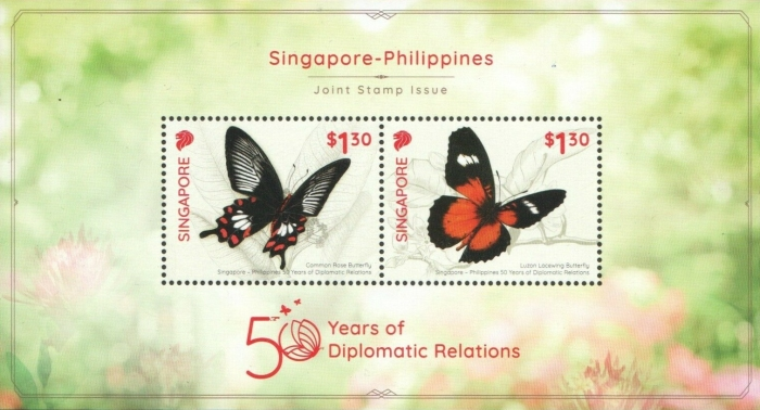 [Butterflies - The 50th Anniversary of Diplomatic Relations with Philippines - Joint Issue with Philippines, type ]