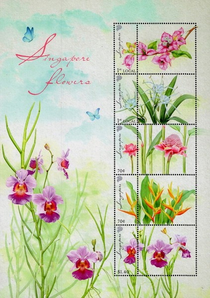[Flowers of Singapore - Personalized Stamps, Typ ]
