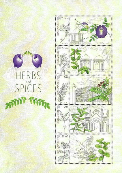 [Herbs and Spices - Personalized Stamps, type ]