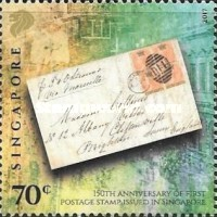 [The 150th Anniversary of the First Postage Stamp Issued in Singapore, Typ BYO]