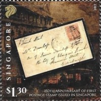 [The 150th Anniversary of the First Postage Stamp Issued in Singapore, Typ BYP]