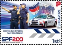 [The 200th Anniversary of the Singapore Police Force, Typ CDU]