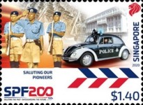 [The 200th Anniversary of the Singapore Police Force, type CDZ]