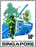 [The 10th Anniversary of National Service, type HT]